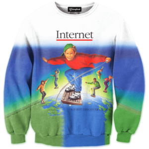 90s internet kid crewneck