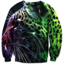 Abstract leopard crewneck