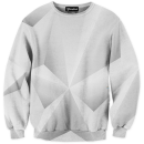 Abstract whiteout crewneck