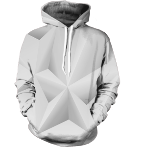 Abstract whiteout hoodie