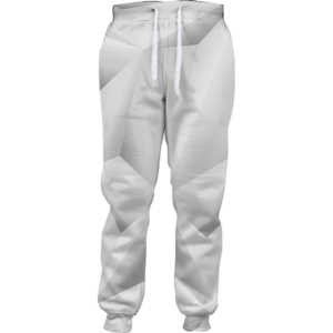 Abstract whiteout joggers