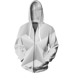 Abstract whiteout zip up