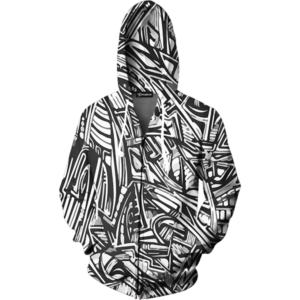 All Over Graffiti zip up