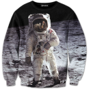 Astronaut on the Moon crewneck