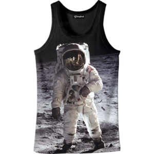 Astronaut on the Moon tank