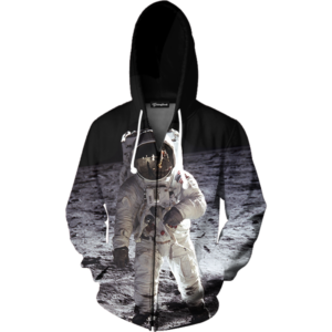 Astronaut on the Moon zip up