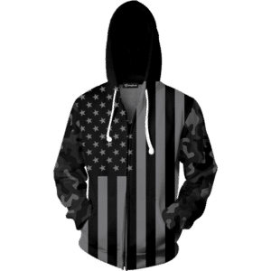 Camo Flag zip up