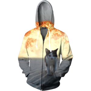 Cat Explosion Zip Up