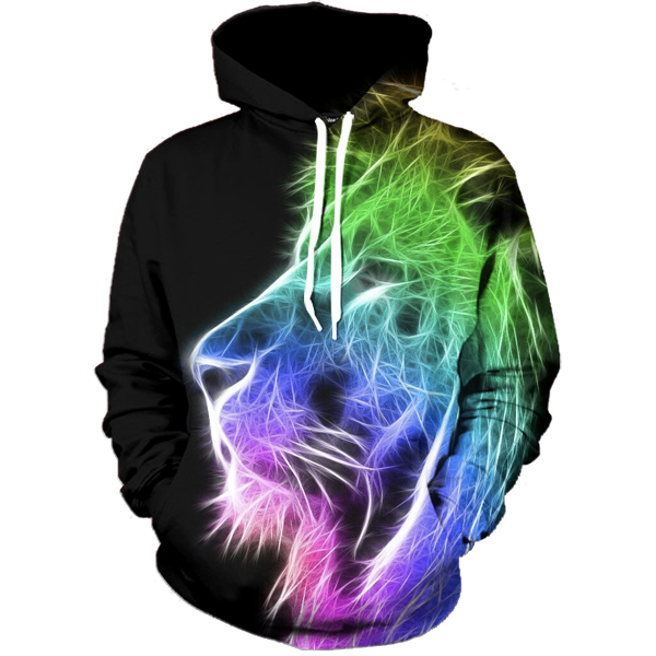 Digital Lion Hoodie - All Over Print Apparel
