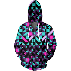 Geometric Tribe zip up