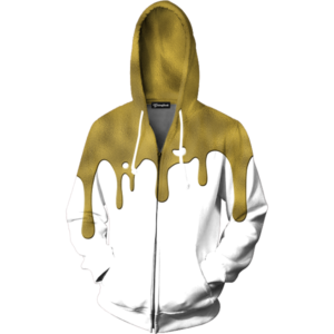 Gold Drips Zip Up