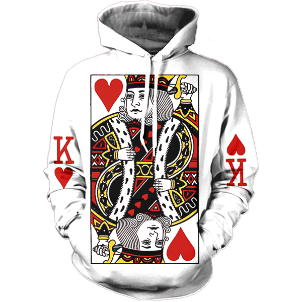 King Of Hearts Hoodie All Over Print Apparel Getonfleek