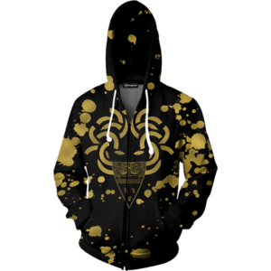 Medusa Gold Print Zip Up