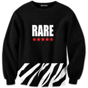 Rare Five Star Zebra Crewneck