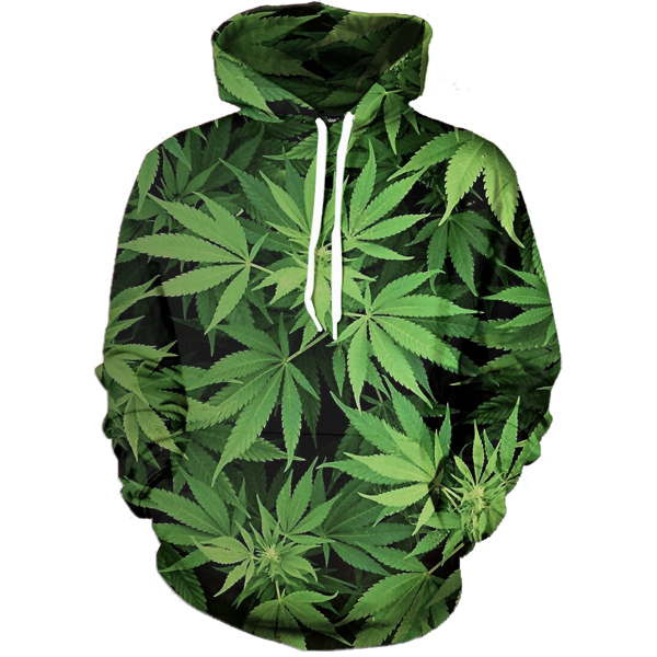 Weed Camo Hoodie - All Over Print Apparel