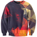 abstract glow crewneck
