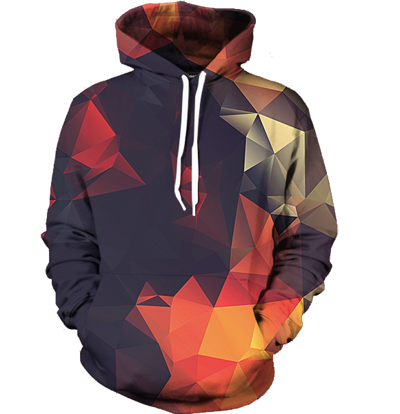 Abstract Glow Hoodie - All Over Print Apparel