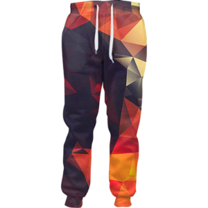 abstract glow joggers