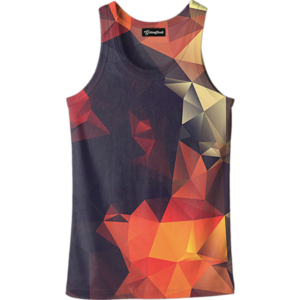 abstract glow tank