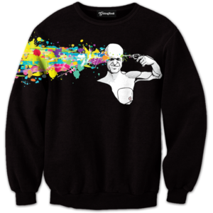 abstract headshot crewneck