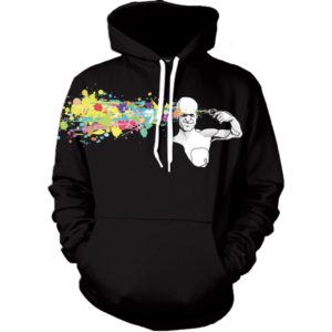 abstract headshot hoodie