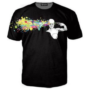 abstract headshot tee