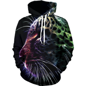 abstract leopard hoodie