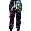abstract leopard jogger