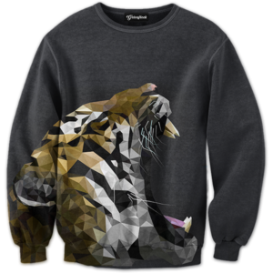 abstract roar crewneck