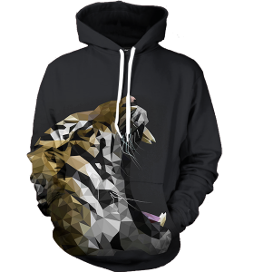 abstract roar hoodie