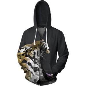 abstract roar zip up