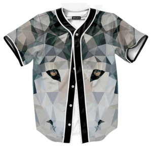 abstract wolf jersey