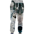 abstract wolf joggers
