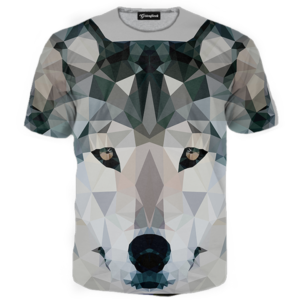 abstract wolf tee