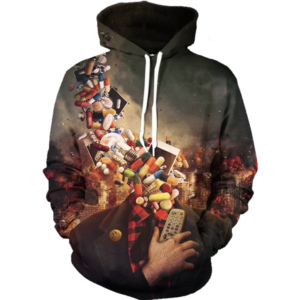 addiction head hoodie