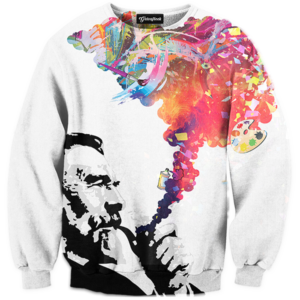 colorful smoke crewneck