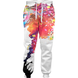 colorful smoke joggers