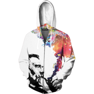 colorful smoke zip up