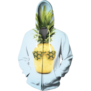 cool pineapple zip up
