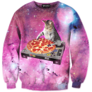 dj pizza cat crewneck