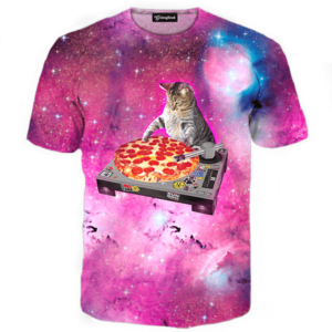 dj pizza cat tee