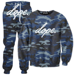 dope navy camo tracksuit