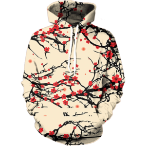 floral cherry blossom hoodie