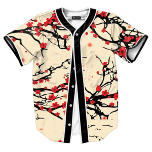 floral cherry blossom jersey