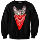 gangsta cat crewneck