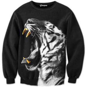 gold slugs tiger crewneck