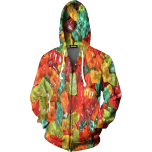 gummy bear zip up