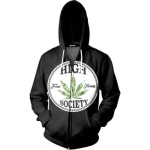 high society zip up
