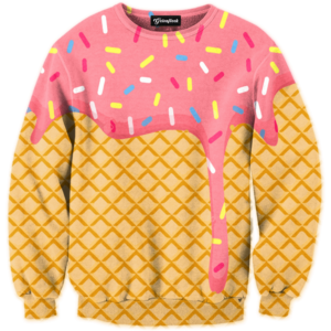ice cream dripping crewneck