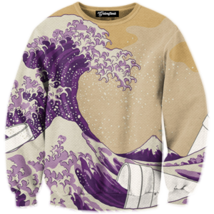 lean cup wave crewneck